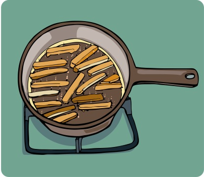 frying the fries