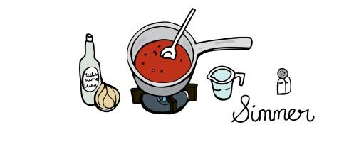 simmer sauce