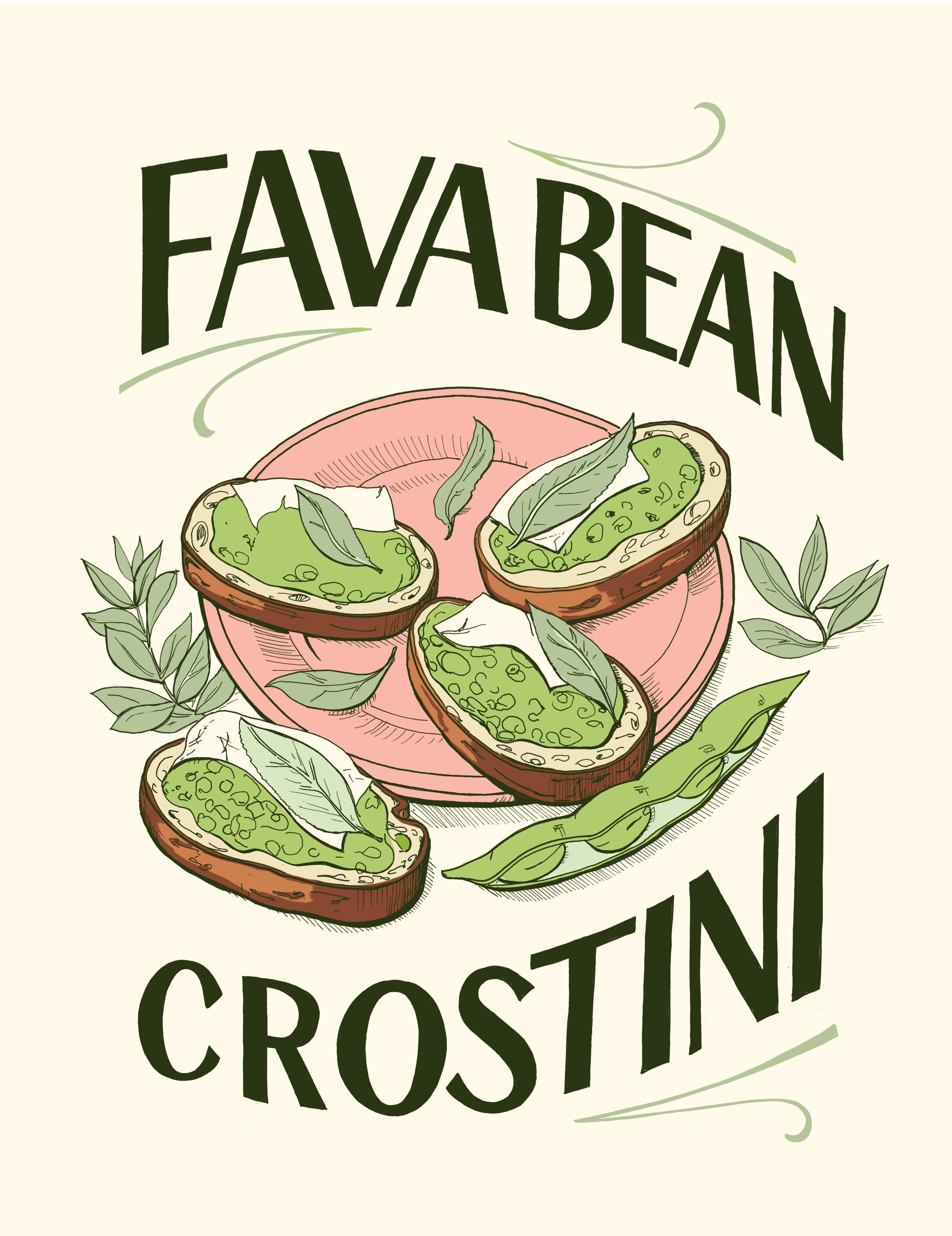 Springtime Morel And Fava Bean Crostini Recipe — Dishmaps